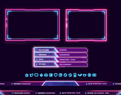 Twitch Overlay Template (Animated)
