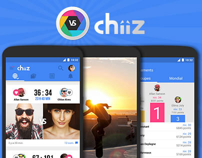 Chiiz application, site et flyers