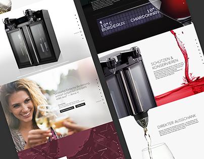 Maitre de Vin – Produkt-Landingpage