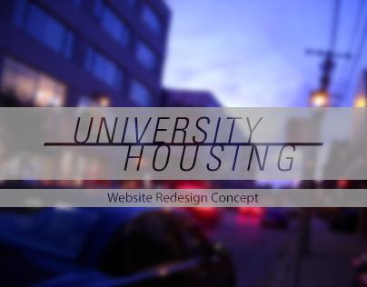 University Housing - Website Redesign Concept