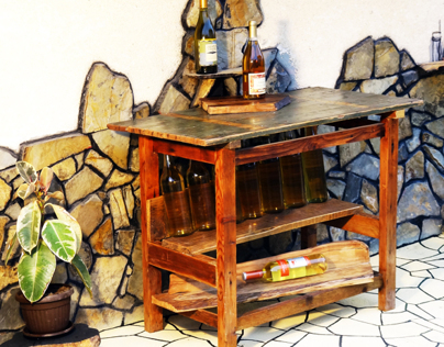 Rustic and refined table