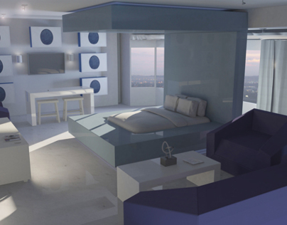3D Architectural Render (Real Light Simulation)