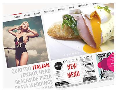 Quattro Restaurant Website, UX UI Design