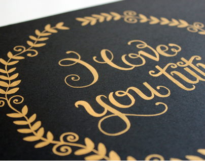 Gold Hand Lettering