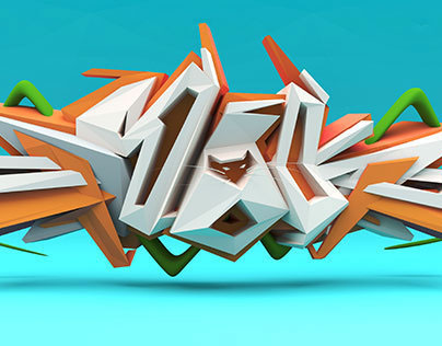 3D Graffiti lettering