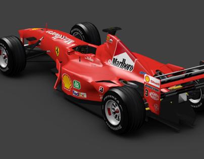Ferrari F1 2000 - Low polygon