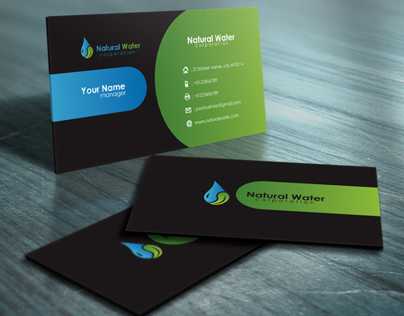 Natural Water Business Card