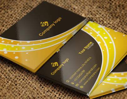 Orange Business Card Template