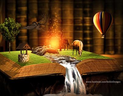 Surreal Artwork : Magical Book