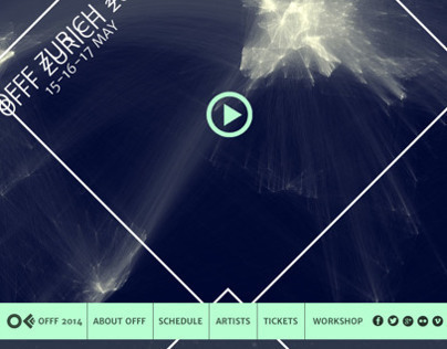 Web design of the OFFF festival 2015