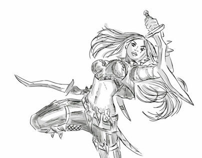 Sketch: Katarina, League of Legends