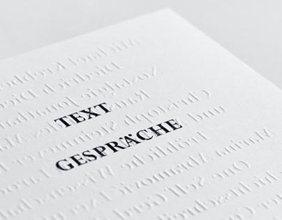 Text Gespräche – Book Design, 2014
