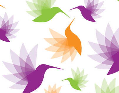 Hummingbirds logo & patterns