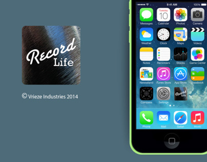 RECORDLife App for iPhone 5