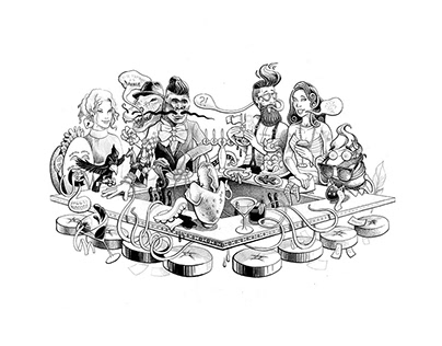 RESTAURANT ILLUSTRATIONS