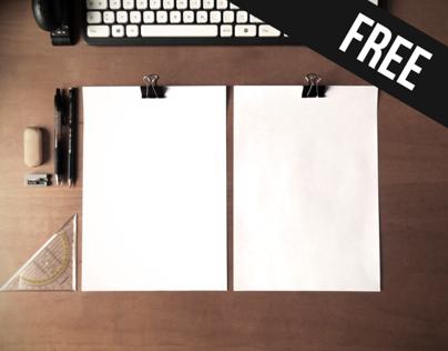 CV Mockup | Simple DinA4 on desk | Free psd