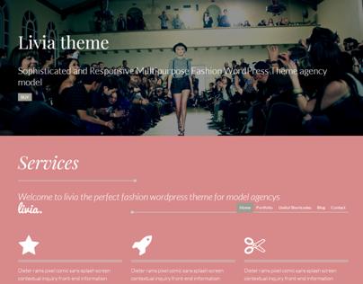 Livia – Fashion WordPress Model Agency Theme