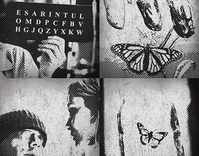 """""""The Diving Bell and the Butterfly"""" - illustrations."""