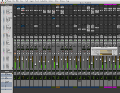 Estudo de mixagem no Pro Tools
