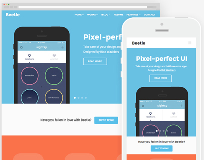 Beetle - HTML5 responsive template