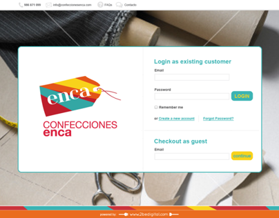 e-COMMERCE WEBSITE: enca fine tailoring