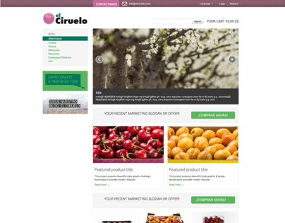 e-COMMERCE WEBSITE: elciruelo fruits from Murcia, Spain