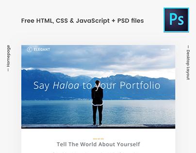 Elegant - Free HTML / PSD
