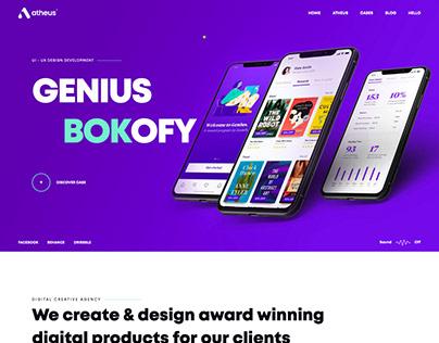 Stoke - App Landing Page Website