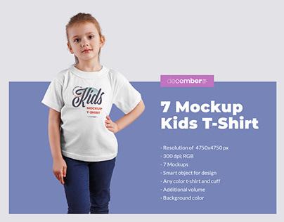 7 MockUps Kids T-Shirt (1 free)