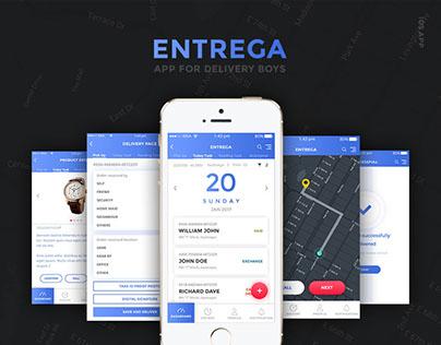ENTREGA - iOS app for delivery boys