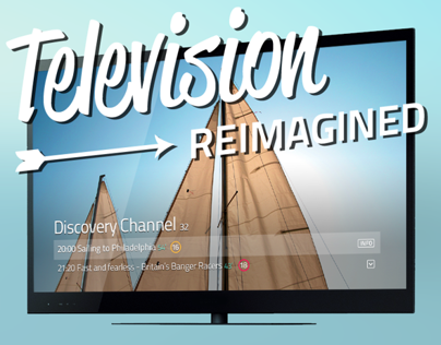 A grid and typography based Television UI