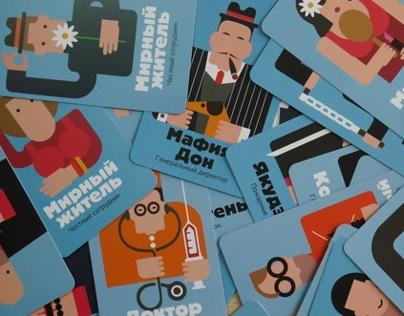 Plays card for mafia