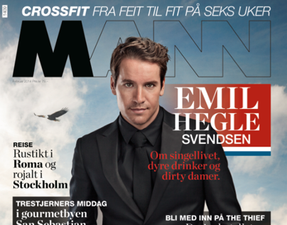 Cover-Emil Hegle Svendsen for magasinet MANN