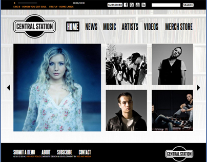 Central Station Records Website