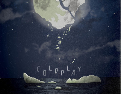 Coldplay SXSW Concert Poster