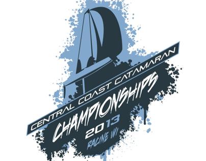C4 Sailing CHAMPIONSHIPS Logo for Racine WI 2013 Race