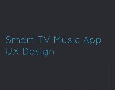 Smart TV Music App UX Concept Design
