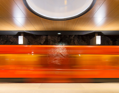 Finnish architecture - Siilitie metro station