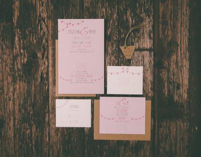 Wedding Stationery M+C