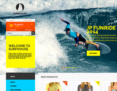Surfhouse - Free .Psd Template