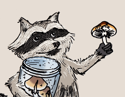 Illustration: Raccoon Thanks Terence 2014