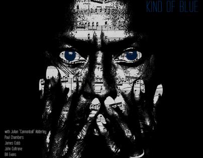 """Miles Davis """"Kind of blue"""" album cover."""