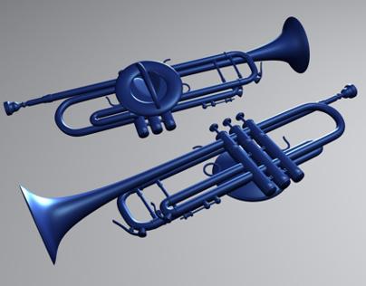 3d model of trumpet pin.