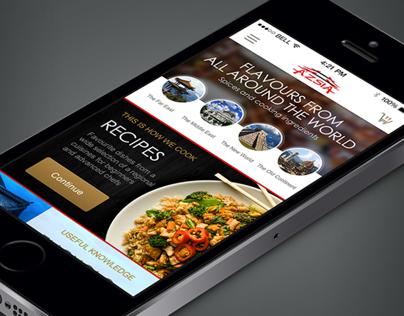 Ázsia store - Mobile app concept