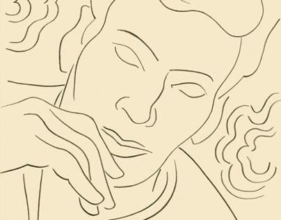 Pencil Portrait of Calvin Klein