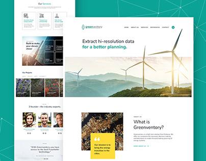 GreenVentory - Solar Company Web Design