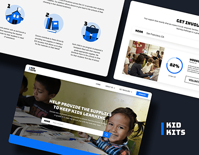 Kid Kits Non-Profit UI Design