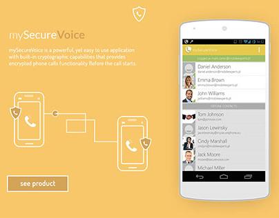 mySecurePhone - Responsive web design