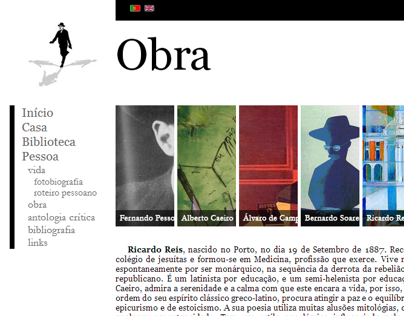 Redesign Website - Casa Fernando Pessoa