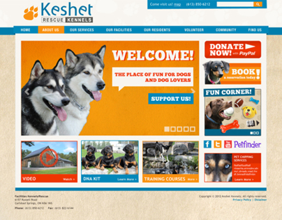 Keshet Kennels Web Site Design and Logos